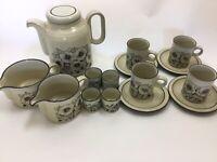 Vintage 1980s Hornsea Cornrose Coffee Set X 4 & Egg Cups Coffee Tea Pot Jug