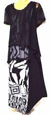plus sz XXS/ 12 TS TAKING SHAPE Tribal Shadow Dress 2in1 soft stretch NWT rp$150