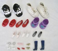 Vintage Lot 14 Pair Doll Shoes Assorted Mixed Lot Sandals Boots Sneakers