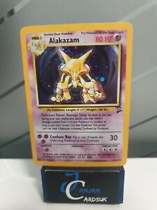 Alakazam 1/130 Base Set 2 Holo Pokemon Card EX+