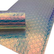 HEARTS Iridescent PVC Leather Sheets