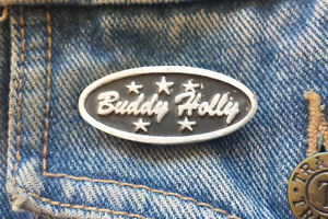 Buddy Holly Pewter Pin Badge