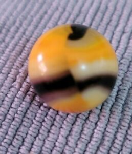 """VINTAGE MARBLE KING """"BENGAL TIGER"""" PATCH  RIBBON Hybrid RAINBOW MARBLE 5/8"""""""