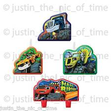 BLAZE & THE MONSTER MACHINES Birthday Cake CANDLES x4