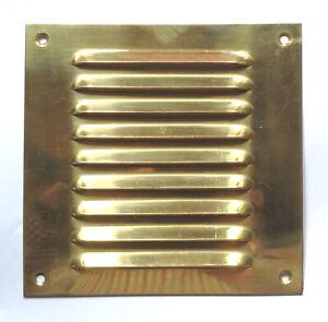 """Louvre vent 6"""" x 6"""" brass 6.0in2 free air AV093"""
