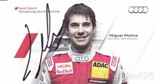 2011 Miguel Molina signed Audi Racing A4 DTM postcard