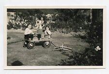 Carte-Photo . Jouet ancien . Carriole . Old toy . Photo-card .