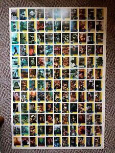 1990 Topps Original Teenage Mutant Ninja Turtles Trading Cards Uncut Sheet