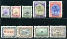 Greenland 10-18 Mint, Hinged, horse, bird, plane, bear