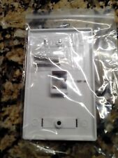 100 -1 Port Keystone Faceplate White w/Windows RJ45 Face Plate USA SELLER!