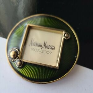 """Jay Strongwater Neiman Marcus Enameled Mini Picture Frame Collar Clip 2""""D"""