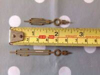 Antique Art Deco Clock Hands Solid Brass NOS One Pair For £4.99 65mm And 50mm
