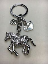 Horse Keyring Personalised, Bag Charm Gift choose daughter, Mum, Auntie  etc