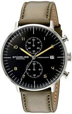 Stuhrling Original 803 02 Mens Monaco Analog Display Quartz Green Watch