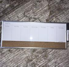 Weekly Dry Erase Calendar And Cork Board