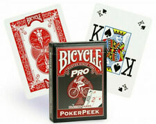 Bicycle Poker Peek Pro Red Playing Cards - USPCC- New Sealed Deck