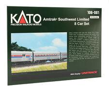 N Gauge - Kato passenger car set Amtrak Southwest Limited 106-081 Neu