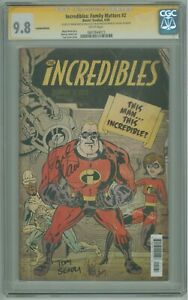 Incredibles Family Matters # 2 CGC SS 9.8 NM/MT Signed by Waid Scioli & Takara