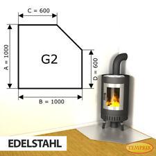 Kamin Bodenplatte Funkenschutz Kaminplatte Edelstahl Ofen Platte Ofenblech -G2