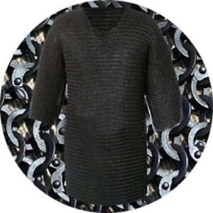 Flat Riveted with Flat Washer Chainmail Shirt Large Size Haubergeon Free Shippin