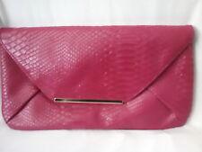 Snakeskin shoulder chain bag handbag clutch SELECT animal print lining Hot Pink