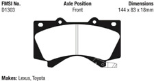 EBC Greenstuff Series Brake Pad Set Front for LX570 / Tundra / Sequoia # DP61815