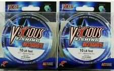 2 SPOOLS VICIOUS COPOLYMER FISHING LINE VGN-10 330YD LOW VIS GREEN 10LB