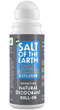 SALT OF THE EARTH NATURAL DEODORANT ROLL-ON PURE ARMOUR  75ml