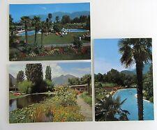 SCHWEIZ Postkarten Lot 3x Hotel Paradiso LOSONE Region Locarno-Ascona ungelaufen