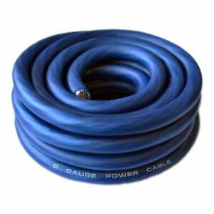 SoundBox 0 Gauge Blue Amplifier Power / Ground Wire 1/0 Ga Amp Cable, 25 Feet