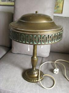 Art Deco Schreibtischleuchte Lampe Messing original um 1925