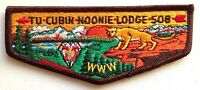 TU CUBIN NOONIE OA LODGE 508 UTAH NATIONAL PARKS PATCH 1985 75TH BSA FLAP TOUGH!
