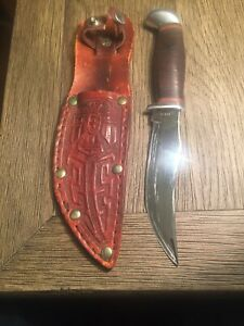 Case XX USA Sheath Knife-leather Handle And Sheath