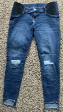 Women's Blue Isabel Maternity Distressed Skinny Jeans  Size 4