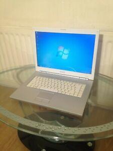Sony Vaio PCG-7X1M 15.4 Laptop. Windows 7 Professional 32 bit, 120GB HDD 3GB RAM