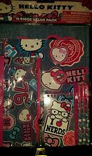 "HELLO KITTY BY SANRIO ""I  NERDS"" 11 PIECE VALUE PACK SCHOOL STATIONERY SET."