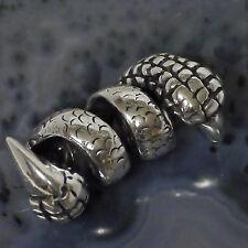 SET Bartcreole Bartperle Bartschmuck 925 Silber Drachenkralle D5,5mm+ Bartgummis