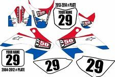 2004-2016 HONDA CRF 50 Graphics Kit Custom Number Plates USA XR50.com