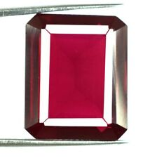 Burma Rubin Juli Monatsstein 38.65 Karat Smaragdschliff 100% Natur AGI Certified