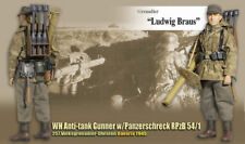 "Dragon WWII 1/6 scale 12"" German Soldier Anti-Tank Gunner Ludwig Braus 70746"