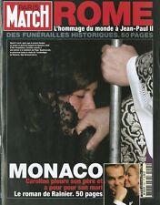 PARIS MATCH Deces Jean Paul II Deces Rainier Mariage Charles Camilla