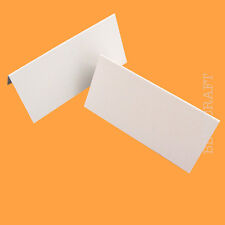 100 X Place Name Cards Luxury Linen Wedding White 260gsm