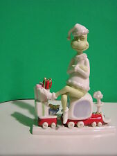 LENOX ALL ABOARD WITH MR. GRINCH sculpture  NEW in BOX w/COA  Train