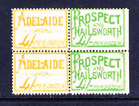 1908 SOUTH AUSTRALIAN TRAMWAYS HORSE DRAWN TICKETS BLOCK OF 4  ****RARE****