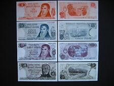 ARGENTINA  1 + 5 + 10 + 50 Pesos 1970 - 76  (P287 + P294 - P296)  UNC