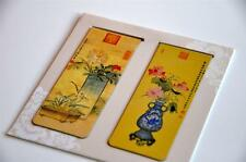 Set of 2 Magnetic Bookmark Flower Chinese Ancient Painting Empress Dowager Cixi