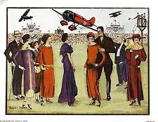 Vintage Anthony Gruerio Print Art Deco Air Show Litho Excellent  Condition