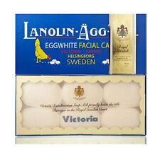 (50g X 6pcs) Sweden Victoria Egg White Pack Facial Care Soap Lanolin-Agg-Tval