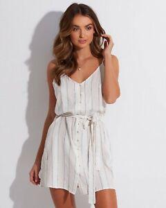 BNWT BILLABONG LADIES ARIZONA STRIPE DRESS SIZE 12 RRP $85.99 LAST ONE