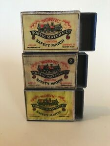 MOKO Matchbox Lesney Norvic matchbox x 3